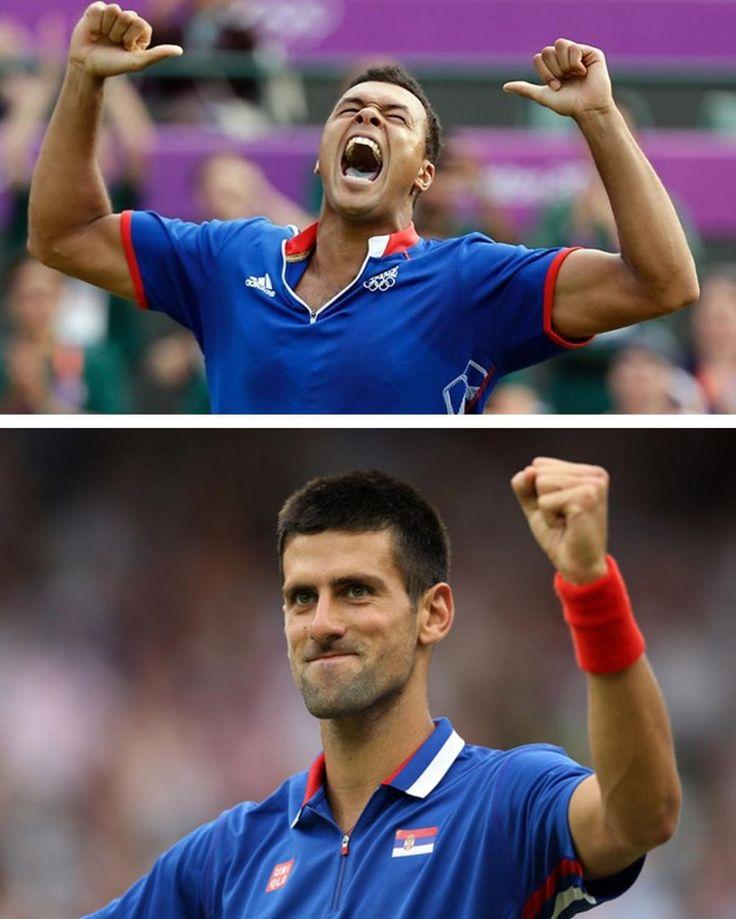 Olympic Games Quarter Final: Jo-Wilfried Tsonga of France v. Novak Djokovic of Serbia.