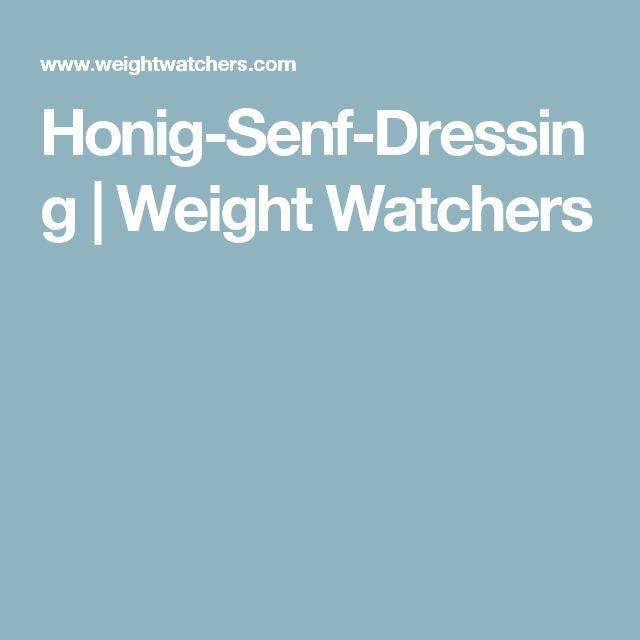 Honig-Senf-Dressing | Weight Watchers