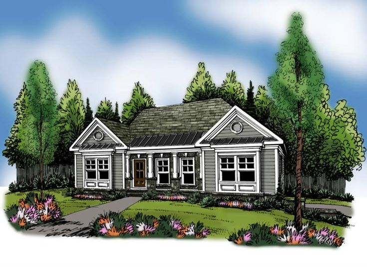 1000 images about one story home plans on pinterest the heritage house plans and the splits - Covered porch house plans space for the family ...