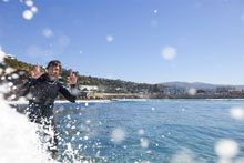 Surfing St Clair Beach