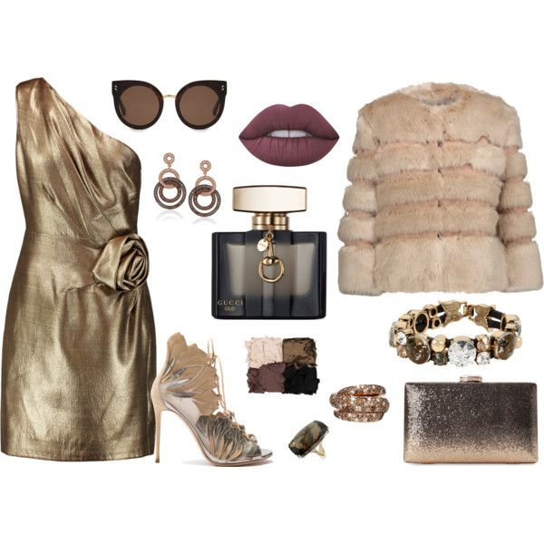 How to...A formal night out by vicky-angelidou-pappas on Polyvore featuring Halston Heritage, AINEA, Casadei, Suzy Levian, Betsey Johnson, STELLA McCARTNEY, Illamasqua, Lime Crime and Gucci
