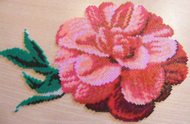 flower hama perler beads by ki-vi,