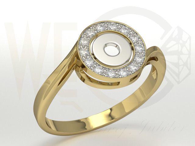 Pierścionek z żółtego i białego złota z diamentami ./ 2069 PLN/ Gold and white gold ring with diamonds.   #diamnods #gold #ring #