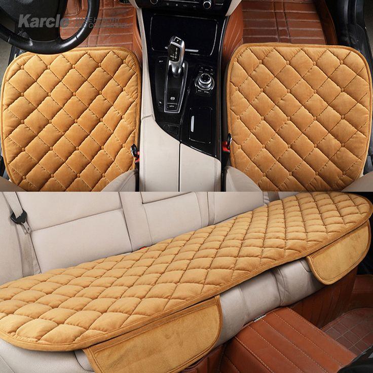 Karcle 1 Set/3 pces Universele Fluwelen Auto-covers Anti-Slip Rijden Protector Auto Stoelhoezen Auto-styling Pluche Kussen Accessoires
