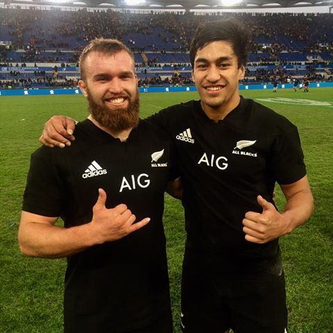 SMILES SAY IT ALL! Congratulations to our newest All Blacks - Liam Coltman #1157 and Rieko Ioane #1156 #TeamAllBlacks.