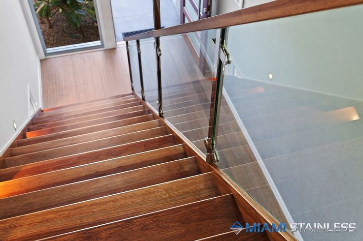 Stunning timber and glass staircase