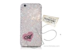 Stylish Smartphone Cases, Swarovski Crystal Cases and More | DSstyles - Fall in love Bling Swarovski Crystal iPhone 5 and 5S Case - Silver