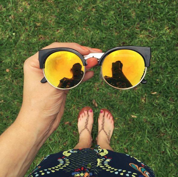 óculos de gatinho espelhado, cool for the summer!