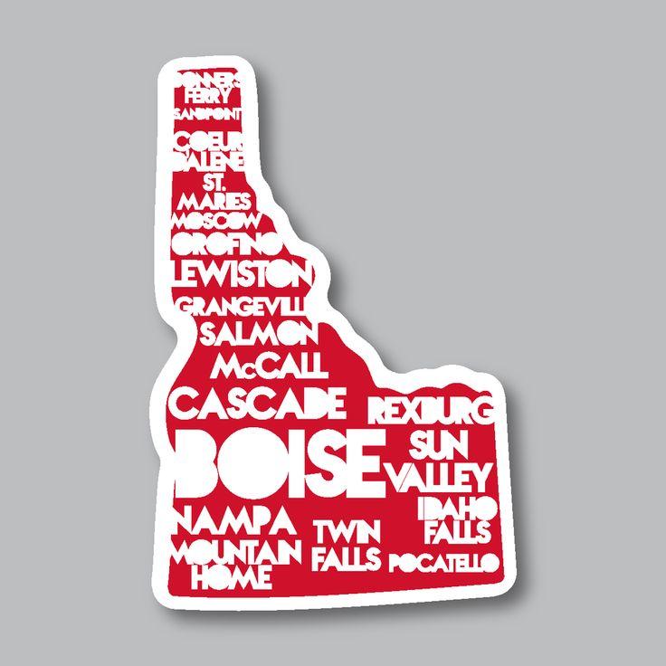 Idaho cities sticker