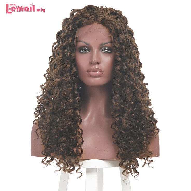 37.37$  Buy here  - L-email Wig Fashion Women Wigs Heat Resistant Long Dark Brown Women Curly Synthetic Hair Peruca Lace Front Wig Natural Lace Wigs