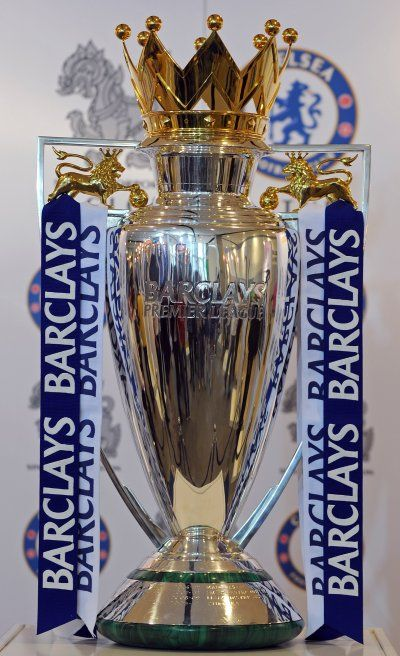 premier league trophy; my team