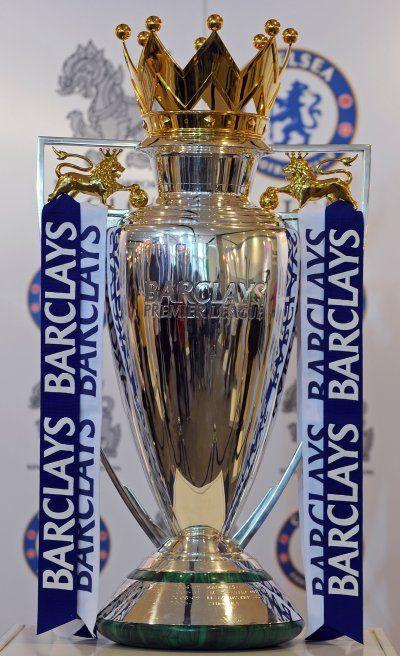 premier league trophy; my team