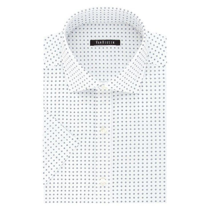 Men's Van Heusen Fresh Defense Slim-Fit Dress Shirt, Size: Xl 17.5-18, Blue Other