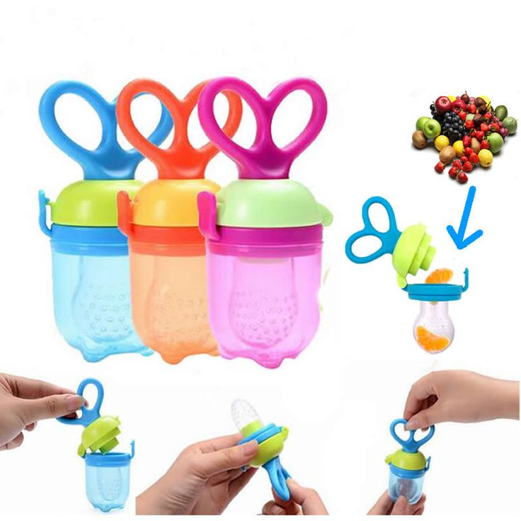 New Speen Silicone Baby Funny Pacifiers Nipple Feeding Food Fruits Holder Tool Bell Safe Baby Supplies Gel Feeder Bottle
