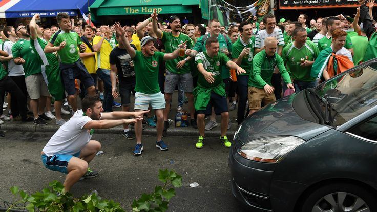 Irish fans presented with award for their behaviour at Euro 2016