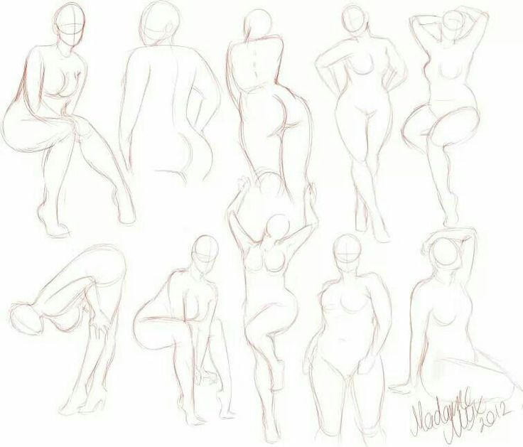 How to draw robust or curvy women