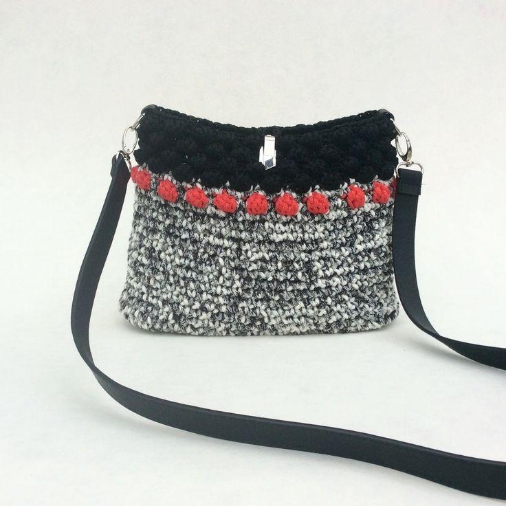 Black & White Crochet Bag