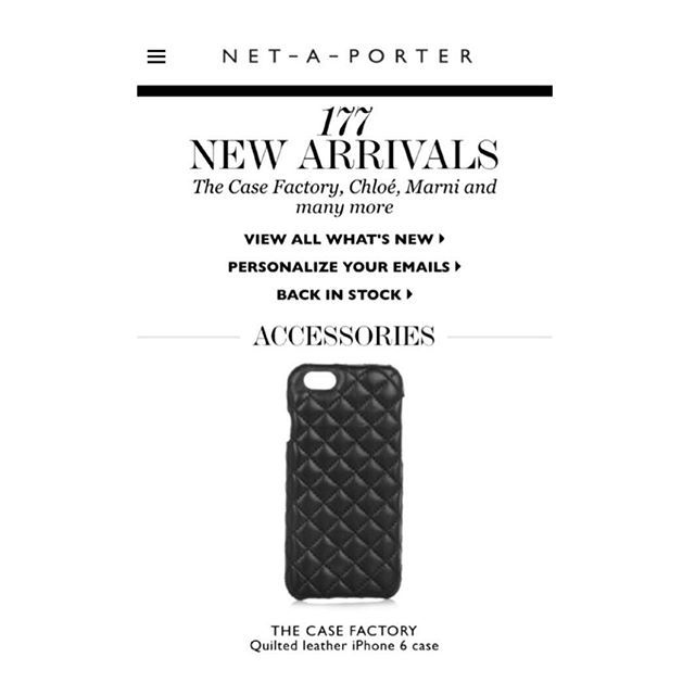 New collections available now at Net-a-Porter. #netaporter #tcf #thecasefactory #new #quilted #leather #cases @netaporter