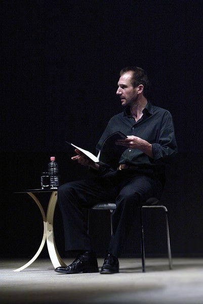 """Ralph Fiennes reading Samuel Beckett's poetry & prose at the NIDA Parade Theatre as part of the month-long celebrations of the annual Sydney Festival (January 2007)"
