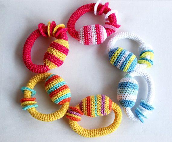 Crochet Amigurumi rattles for babbies. Kids by MeandMamaCreations