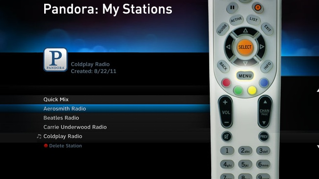 With DIRECTV you can now enjoy Pandora radio