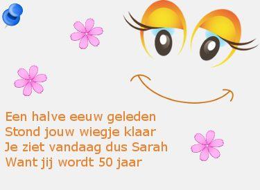 Leuke Teksten Sarah 50 Jaar