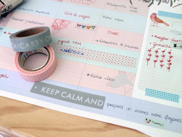 imprimible: planificador semanal   weekly planner free printable. Mi Low Cost