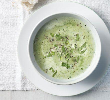 Pea & watercress soup