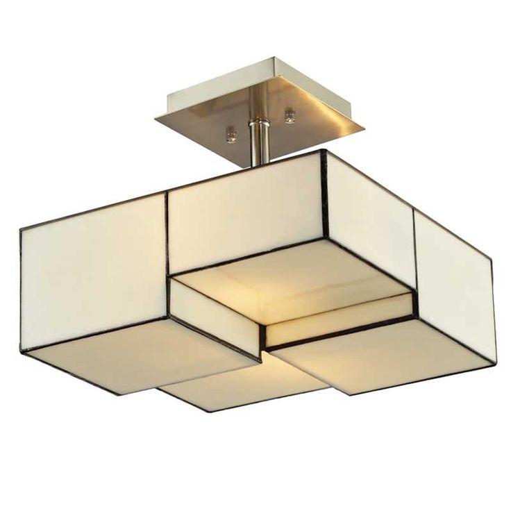 Candelabra home cubist 2 light ceiling mount