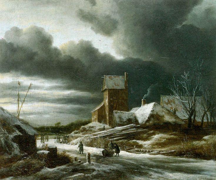 "Jacob van Ruisdael, ""Paysage en hiver"", 1670"