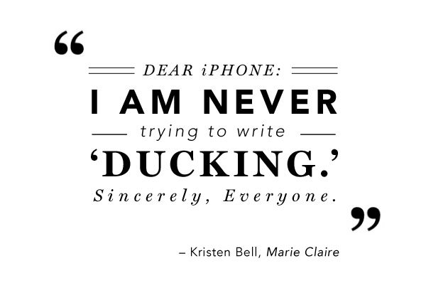 Kristen Bell #Quote: Autos Correction Quotes, Belle Quotes, Quotes In, Belle Iphone, Iphone Autos Correction, Iphone Quotes, Blog, Funny Inspire Quotes, Dear Iphone