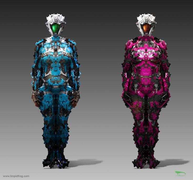 Costume design testing in Modo