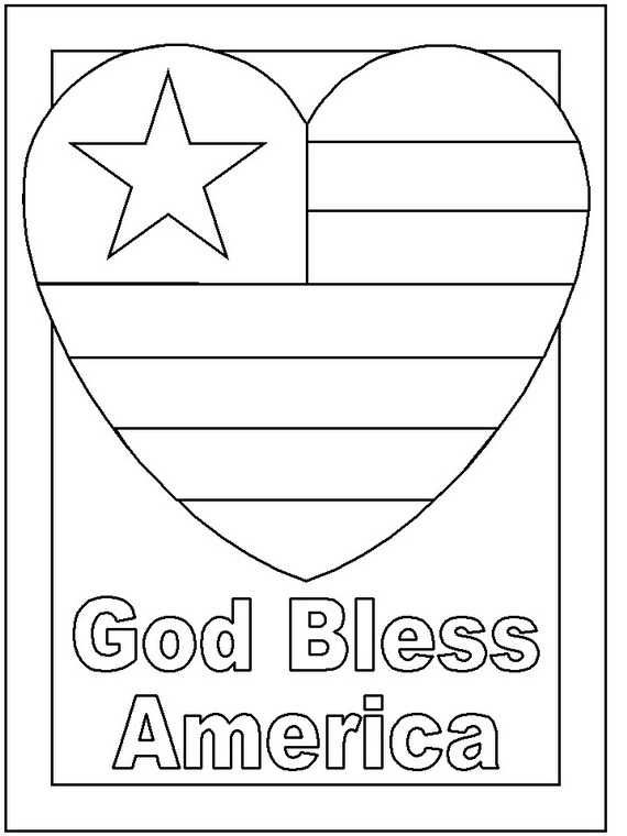 Printable Presidents Day Coloring Pages God Bless America