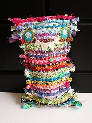 Woven scrap monster....this would be fun for the student who is scrap monster of the week as a classroom job..a desk pet :o)