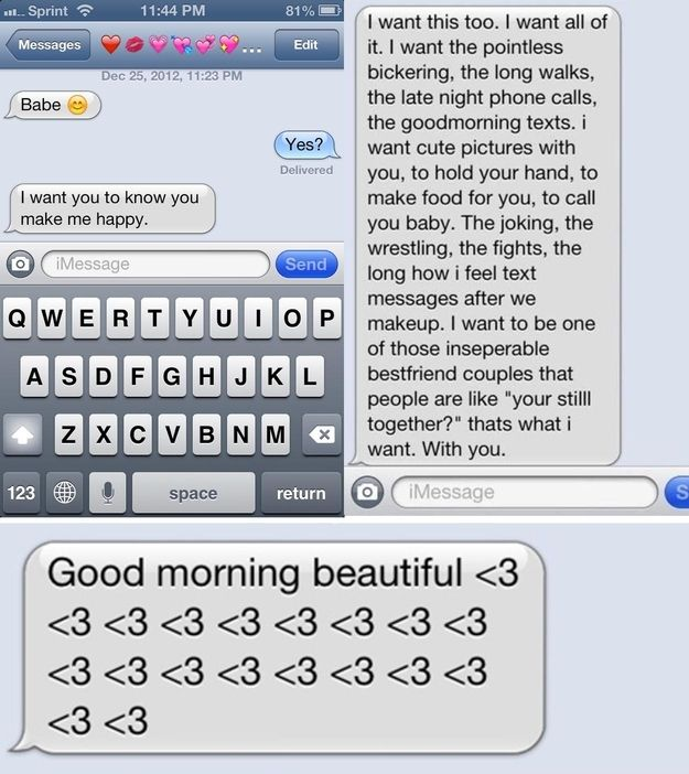 Love you text messages for her