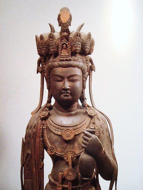 《九面観音像》7世紀(中国 唐時代) 法隆寺