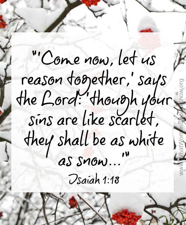 White As Snow ~ Isaiah 1:18