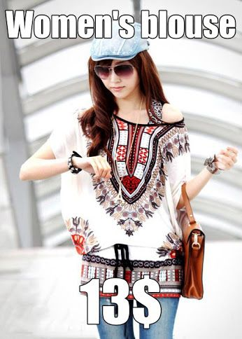 Women's blouse Loose cut blouse provide every comfort for the wearer, ethnic beautiful and distinctive designs will make any woman would look exceptionally and stylish. Fashion clothes, which distinguish you from the crowd. https://www.cosmopolitus.com/women-fashion-retro-ethnic-printed-batwing-sleeve-oneck-loose-p-234521.html?language=en&pID=234521 #Womens #patterns #ethnic #characteristic #comfortable #loose #multicolored