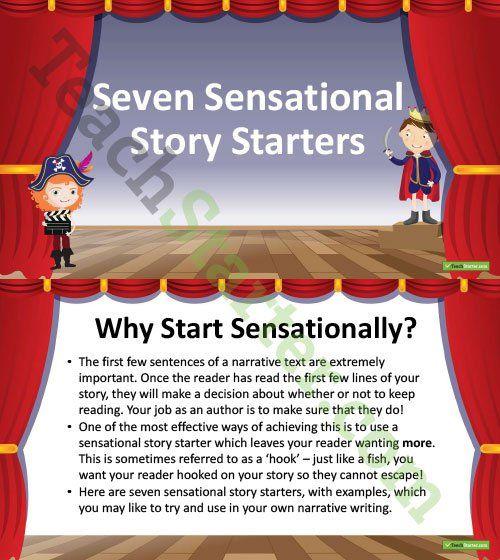 Seven Sensational Story Starters PowerPoint Teaching Resource