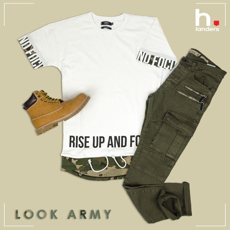 [ Look Camo #1 ] Vous aimez la Tendance Army, alors on vous a concocté 3 Looks pour briller en Camouflage ! On commence tout doux, avec le Tshirt #lotus, le Pantalon Biker #horus, et les Boots #miguel.