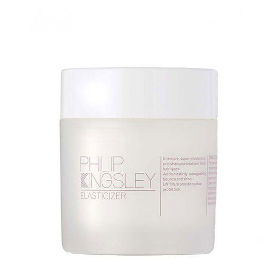 The only conditioner designed to be used before shampoo, this treatment provides a dose of pliability to hair that restores bounce and polish. Philip Kingsley Elasticizer, $49; philipkingsley.com