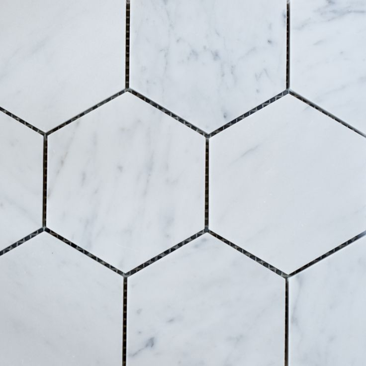 Designer Marble   Carrara Hexagon Mosaic 110mm