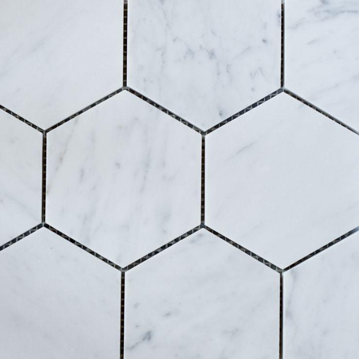 Designer Marble | Carrara Hexagon Mosaic 110mm