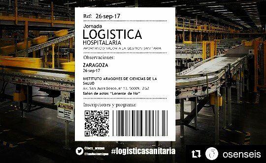 Si te interesa la #logisticasanitaria no puedes faltar a esta cita:  Aportando valor a la gestión sanitaria. #Zaragoza