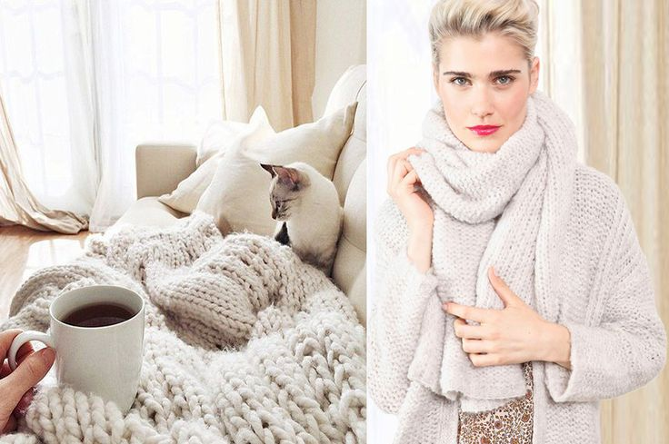 Collection Stella Forest Automne Hiver 2016 Stella Maille #stellaforest #cocooning #maille #knit #pull #echarpe #gilet #fashion #fallwintercollection #doudou #chaleur #cocon #douillet #nid #cat #coffee #chaud #blanc #hiver