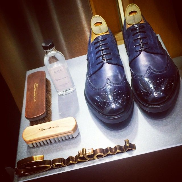 Santoni Lace-Up Leather Shoes & Shoe Care  #shopincrocio