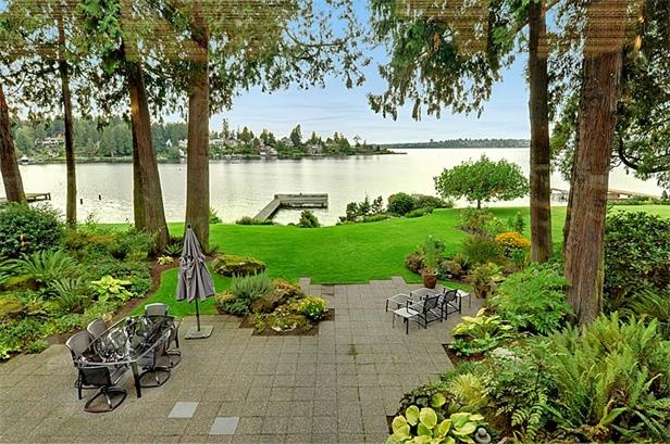 15 best waterfront backyard images on pinterest for Open yard landscaping ideas