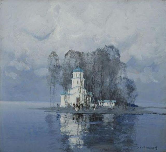 Stepan Fedorovich Kolesnikov ( 1879-1955) ~ 'Church in Winter'