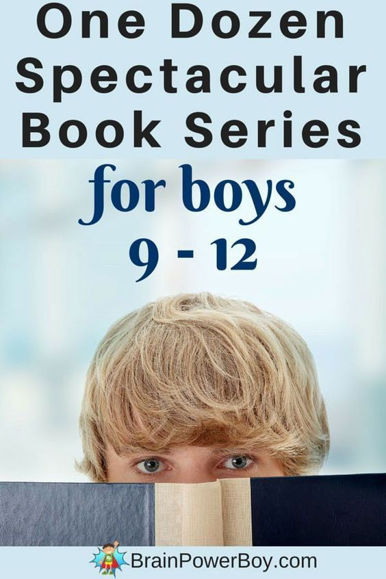 Looking for series books for 9 - 12 year old boys? This list has some really good books to get (and keep) your boys reading. One dozen exciting series they are sure to enjoy. #bookseries #forboys #reading #readinglists #giftideas