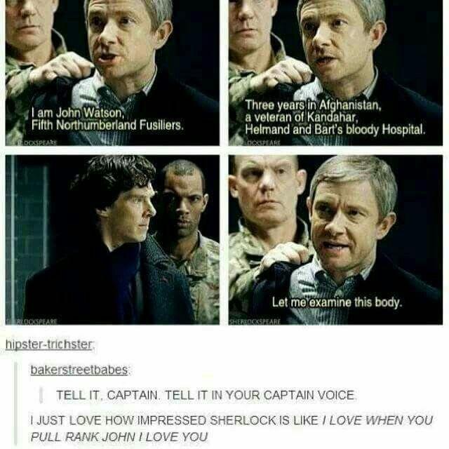 Sherlock's face! Oh captain, my captain!